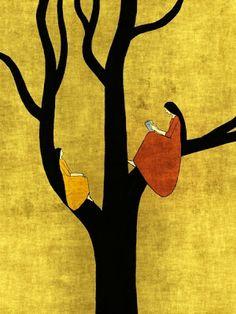 whimsical illustration painting for flock Toni Demuro Art And Illustration, Art Amour, Mellow Yellow, Art Design, Love Art, Oeuvre D'art, Painting & Drawing, Illustrators, Art Photography