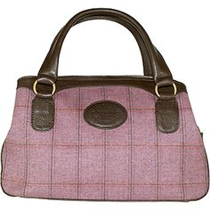 Dee Two British Tweed Heather Classic Organiser Bag Country Cognac The Country Cognac range of handbags and accessories combines the luxury of