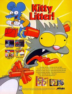 The Itchy & Scratchy Game (1994).. LOL!  I have this!