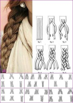 HOW-TO: Super Cute 4-Strand Braid (Step-by-Step Diagram Included)