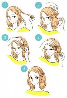 Mariposa con cabello