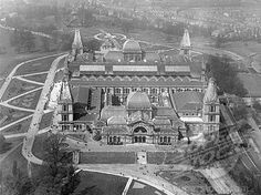 Aerial view of the Alexandra Palace This image has been flipped. New London, North London, Alexandra Palace, Amazing Places On Earth, London History, Vintage London, How To Be Likeable, Aerial View, Preserve