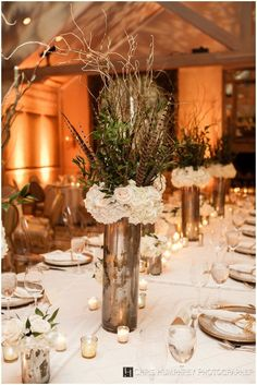 The French Bouquet Blog - inspiring wedding & event florals » Tall Centerpieces with Curly Willow