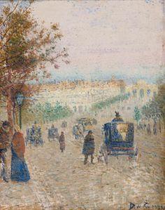 La calle de Alcalá (1892) Utiliza la técnica del puntillismo influido por Seurat, Signac y Pisarro.