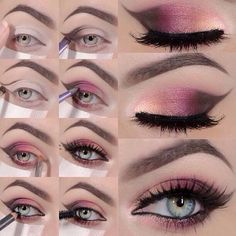 Image result for images of Join the Dots eye makeup step by step
