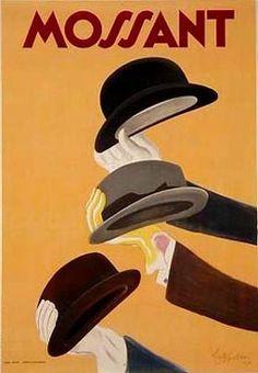 Vintage Chapeaux Mossant by Leonetto Cappiello