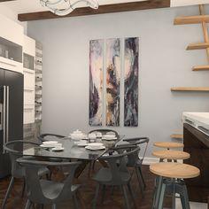 Серый, черный, дерево... #interiordesign #annademidovadsgn #interior #design #krasnodar