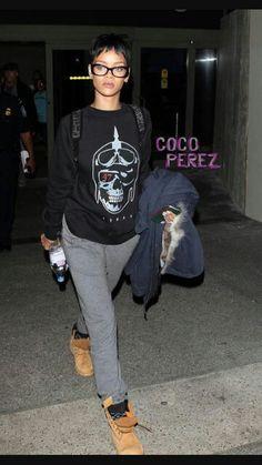 Rihanna wearing Timberland boots | Women's Fashion | Celebrity | Timberland boots