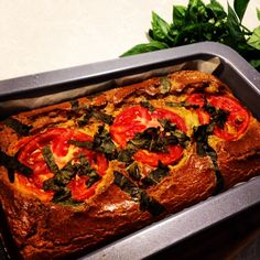 The Shrinking Hubby's Gluten Free Tomato, Zucchini and Basil Savoury Loaf.