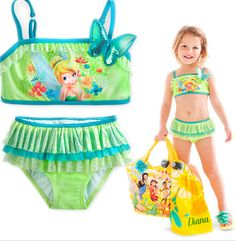 TINKERBELL SWIMSUIT Price $24.99, Free Shipping Options: 4T, 5/6, 7/8, 9/10 COMMENT SOLD WITH EMAIL AND SIZE TO PURCHASE.