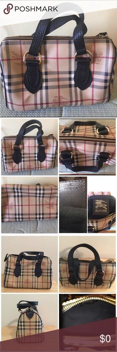 Sell/Trade- Authentic Burberry Bowler Tote Selling Authentic Burberry Bowler Brown Tote. The size of this bag would compare to a LV Speedy 25. The inside of the purse has a spot as it probably can be removed as the liner is black as seen in picture 4. There is tiny color transfer that is shown in picture 4 that probably can be removed if you know how as I prefer not to mess up a gorgeous/expensive bag 😘. (Note: Gifted Coach Wristlet) Burberry Bags Totes