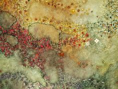 """""""close up, embroidery on felt"""" by Gunnel Svensson"""