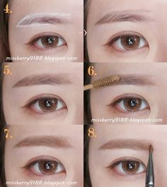 eyebrow korean tutorial - Buscar con Google #Koreanmakeuptutorials