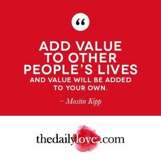 Visual Inspiration: Add Value