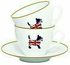 I feel like these Union Jack Scottie Tea Cups are just calling to be used for a Great Britain Great Tea Party British Things, British Gifts, British Decor, British Style, Cuppa Tea, Radley, Tea Set, Cup And Saucer, Tea Time