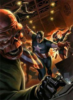 Captain America vs Red Skull by Felipe Massafera