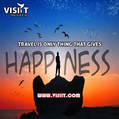Travel is the Only thing that gives happiness. #happiness #travel #tourism #india #visiit #tours
