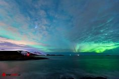 Beautiful northern light over The Atlantic Road! Foto: Einar Engdal