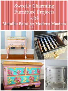 Charming and Sweet Furniture Projects with Modern Masters Metallic Paint   Modern Masters Cafe Blog