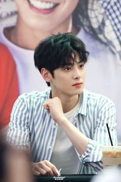 """ASTRO's Cha Eun Woo isn't called """"The Visual God"""" for no reason. He's so good looking that every photo deserves a look twice over! Astro Eunwoo, Cha Eunwoo Astro, Cha Eun Woo, Asian Actors, Korean Actors, Drama Korea, Korean Drama, Kim Myungjun, Astro Wallpaper"""