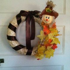 Fall DIY Scarecrow Wreath
