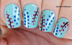 Easy #Blue Flower Like Dotting Tool #Nailart