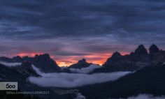 Cold Sunrise by mattiadattaro  alps clouds cold d750 dolomites dolomiti fog forest italy landscape mist misty morning mountain moun