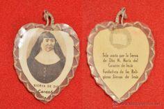 ESCAPULARIO CON RELIQUIA SANTA MARIA DEL CORAZÓN DE JESÚS FUNDADORA RELIGIOSAS SIERVAS DE JESÚS