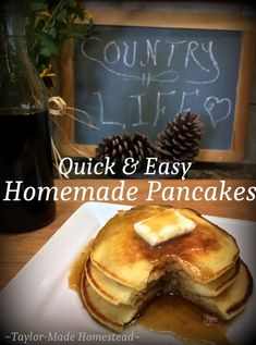 Quick, Easy & Delicious Pancakes SHOULDN'T Come From A Box! Check Out My…