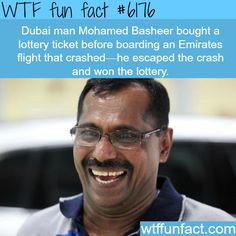 Dubai man survies an airplane crash and wins lottery - WOW! Jus WOW! ...LUCKY?  ~WTF? awesome, fun facts