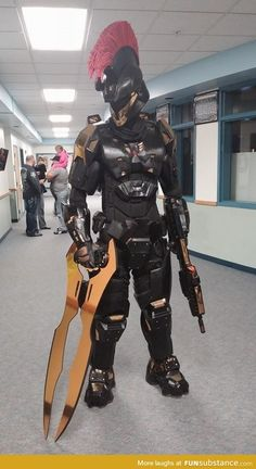 Halo Spartan Armor, Halo Armor, Halo Cosplay, Best Cosplay, Awesome Cosplay, Odst Halo, Funny Pictures, Funny Images, Funny Pics