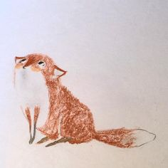 It's no secret that I love foxes. This is just a little sketch for my book. #illustration #childrensbooks #childrensillustration #kidlitart #kidlit #sketchbook #fox #pencildrawing #pencilcrayon #sketchbook