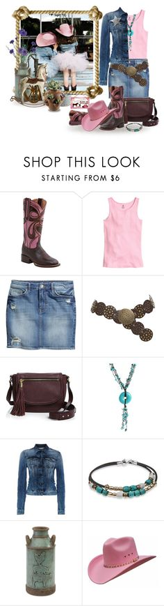 """""""Wanna be a cowgirl"""" by terry-tlc ❤ liked on Polyvore featuring Lucchese, H&M, Milly, AeraVida, Replay, Platadepalo and Imax Home"""