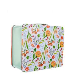 Use the Rosie for art supplies or simply as your favorite lunch box. Comes with a different fun design on each side. Measures: 7.7 by 6.7 by 4 inches.