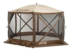 Quick Set 9879 Escape Shelter, 140 x Portable Popup Gazebo Durable Tent Bug and Rain Protection Easy Setup Person), Brown/Beige Screen Tent, Screen House, Gazebo Canopy, Canopy Outdoor, Canopies, Bbq Gazebo, Outdoor Decor, Campsite Decorating, Decorating Ideas