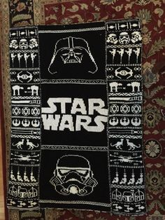 Super cool Star Wars blanket I saw on tumblr! The patterns are linked on the tumblr post.