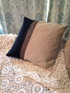 Wool and linen decorator pillow. Fits 18x 18 pillow form. Hidden zipper closure.