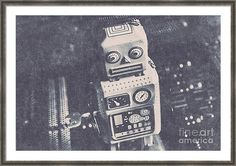 Old Framed Print featuring the photograph Vintage Robot Toy by Jorgo Photography - Wall Art Gallery