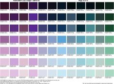 Pantone cheat sheet #8