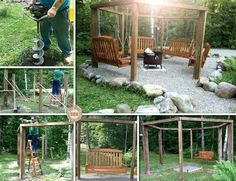 Horseshoe pit on pinterest fire pits benches and swing sets