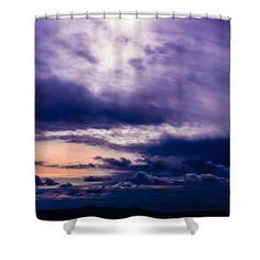 Unique Magical Sky Shower Curtain,Purple White Peach Skies Bathroom Curtain,Lavender Bathroom Decor,Sunset Sunrise Shower Curtain, Boho Chic by HeatherJoyceMorrill on Etsy