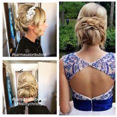 Prom 2016! Hair by Chrissy at Karma Salon & Spa.