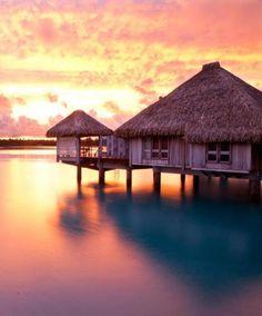 Bucket List Honeymoon Ideas: Overwater Bungalow in Bora Bora. My dream honeymoon destination! Top 10 Honeymoon Destinations, Honeymoon Spots, Romantic Honeymoon, Amazing Destinations, Honeymoon Ideas, Travel Destinations, Romantic Vacations, Holiday Destinations, Vacation Trips