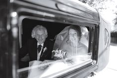 Father & Bride wedding car shot  - Black & white photography Wedding Car, Wedding Bride, Our Wedding, White Photography, Wedding Photography, Father, Black And White, Fictional Characters, Art