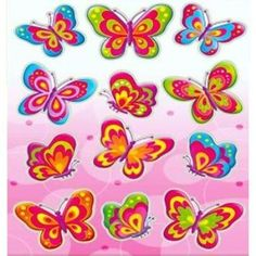 Rainbow Creations Butterfly Stickers