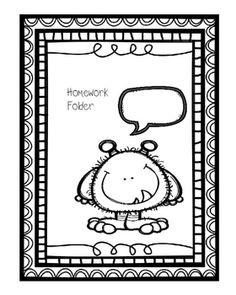 Kindergarten Homework Folder My students and parents love
