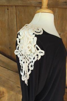 Hello Darlin' Crochet Shoulder Knit Top - Rustic Honey - shoprustichoney.com - country boutique