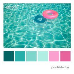 Colour Palette: Poolside Fun