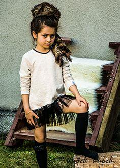 Sukienka dresowa z tiulowym dołem. Wzór Natali Siwiec. Do kupienia na: mail: knocknock.fashion@gmail.com fb: https://www.facebook.com/pages/knock-knock-fashion/230430617163127?ref=hl instagram: http://instagram.com/knock_knockfashion#  #kidsfashion #modadladzieci  #kidsfashion #modadladzieci  #fashionkids #modnedziecko #kids fashion #fashion kids