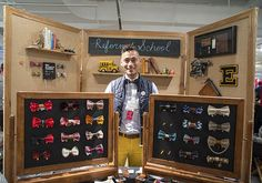 """Etsy/ Craft Fair/ Face-to-face offers opportunities to create an excellent experience for your customer than selling online. Peter Gaona of bow-tie shop ReformedSchool customizes bow ties on the spot, allowing customers to choose the fabric for the center of their pre-tied bow tie. """"It adds a more personal touch and while I was sewing, it gave me a chance to talk to my customer,"""" Peter says. He encourages customers to tag him when they share photos of their ties on social media."""